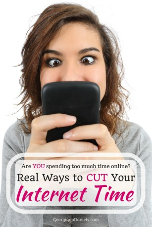 Are you spending too much time online? If your job involves the Internet, chances are you the time you spend on work plus the time you spend simply surfing end up being entirely too much! Here are REAL suggestions for cutting down your time online.