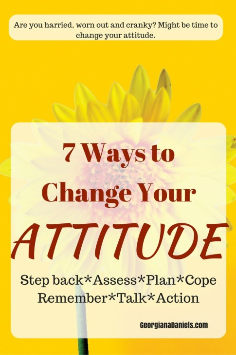 When you're dog-piled by life, sometimes you need new ways to change your attitude. Here are 7 ways to change your attitude so you can get back to living the big life!