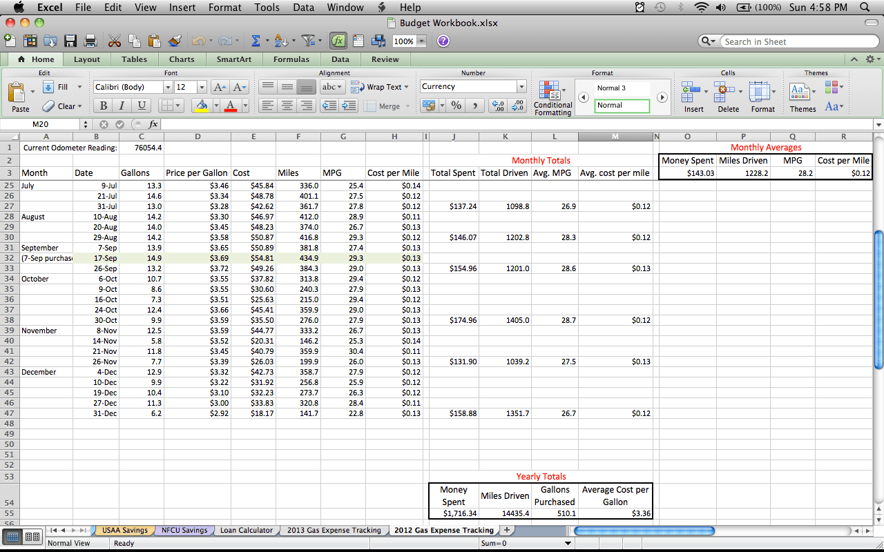 Daily Expense Tracker Excel Sheet