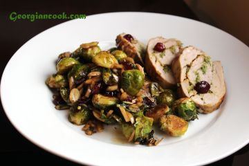 brussels sprouts with toasted almonds and cranberries