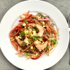 Asian buckwheat noodle and shrimp salad
