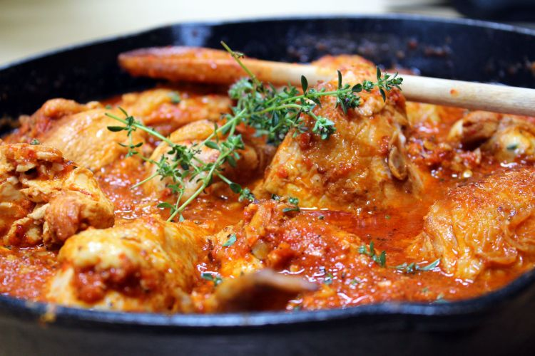 chicken in romesco sauce