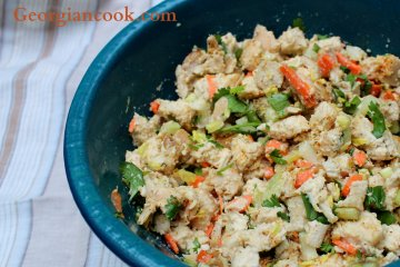 Chicken Salad with Cashew Paste