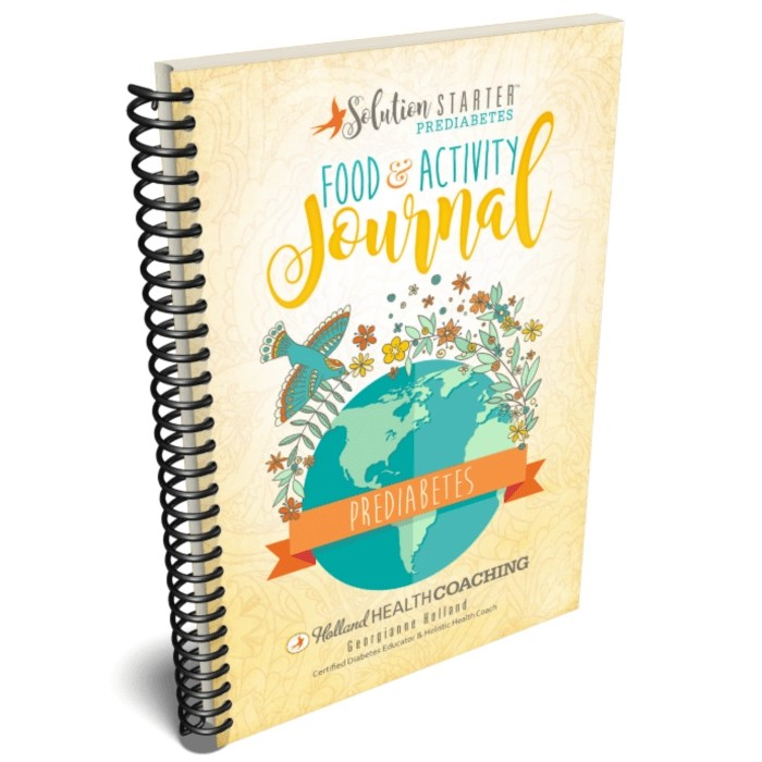 food and activity journal holland health coaching
