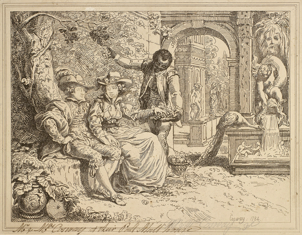 Mr and Mrs Cosway at their Pall Mall House, by Richard Cosway (bapt.1742 d.1821), RCIN 653010.