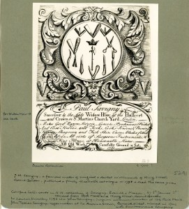 Trade card of Paul Savigny