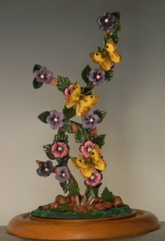 """Golden Fantasy"" Alfalfa Butterfly Polymer Clay Sculpture"