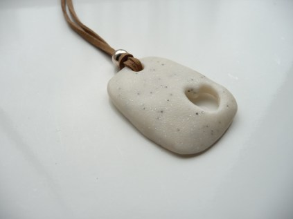 Polymer clay marble effect valentine/love pendant