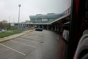 Leaving the rainy Budapest Airport