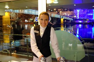 Anna, one of our favorite servers, who was always waiting with my German coffee!