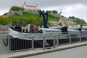 A floating art gallery whimsically named Noah's Arte!