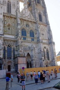 They are also working on the stonework of the front facade. We would have enjoyed going inside.