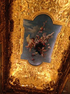The Winter palace has the most elaborate gilded ceiling I have ever seen.