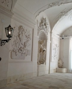The beautiful white interior of the Winter Palace