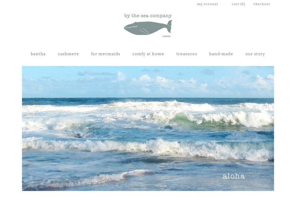 by the sea landing page screeen grab 1a