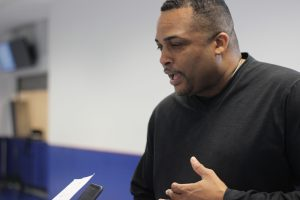 Coach Ron Hunter shares his thoughts on new and old players, as well as future plans for the Georgia State Men's basketball team. April 14, 2016. Photos by Lahar Samantarai  The Signal