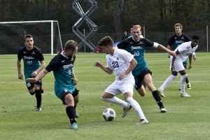 The Georgia State men's soccer team lost in the 70th minute of action against Coastal Carolina in the Sun Belt Conference Championship. Photo by Gordon Clark | The Signal