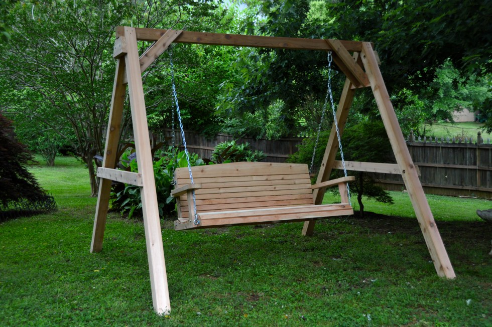 Cedar Porch Swings & Stand