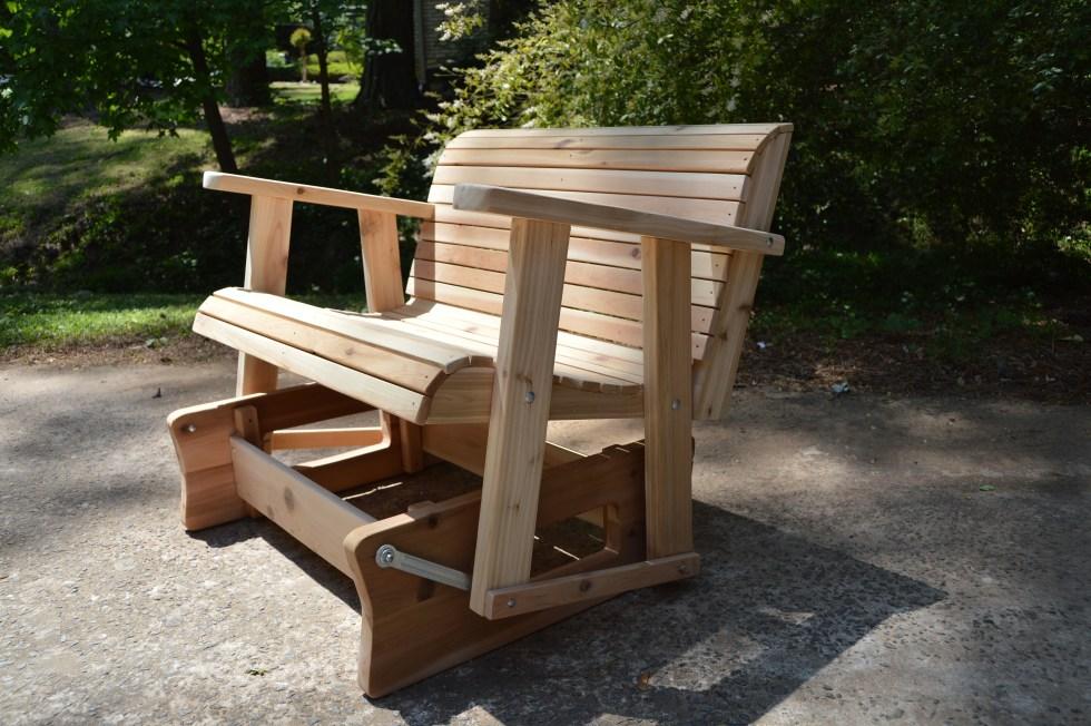 wood bench glider