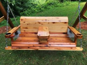 Wood Swing Cup Holders and Table