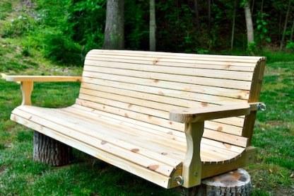 Western Red Cedar Bench Swing