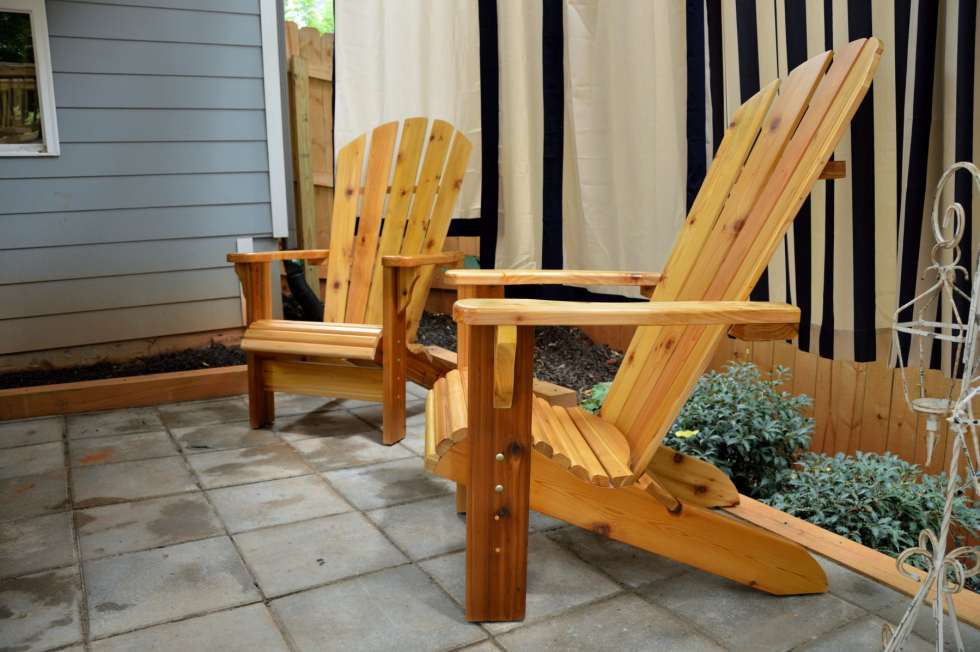 Large Cedar Adirondack Chairs