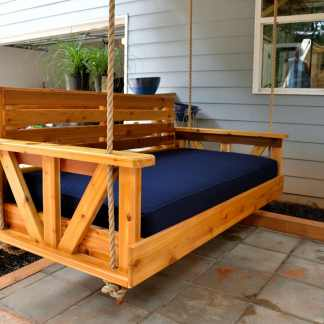 Cedar Bed Swing with Sunbrella cushion