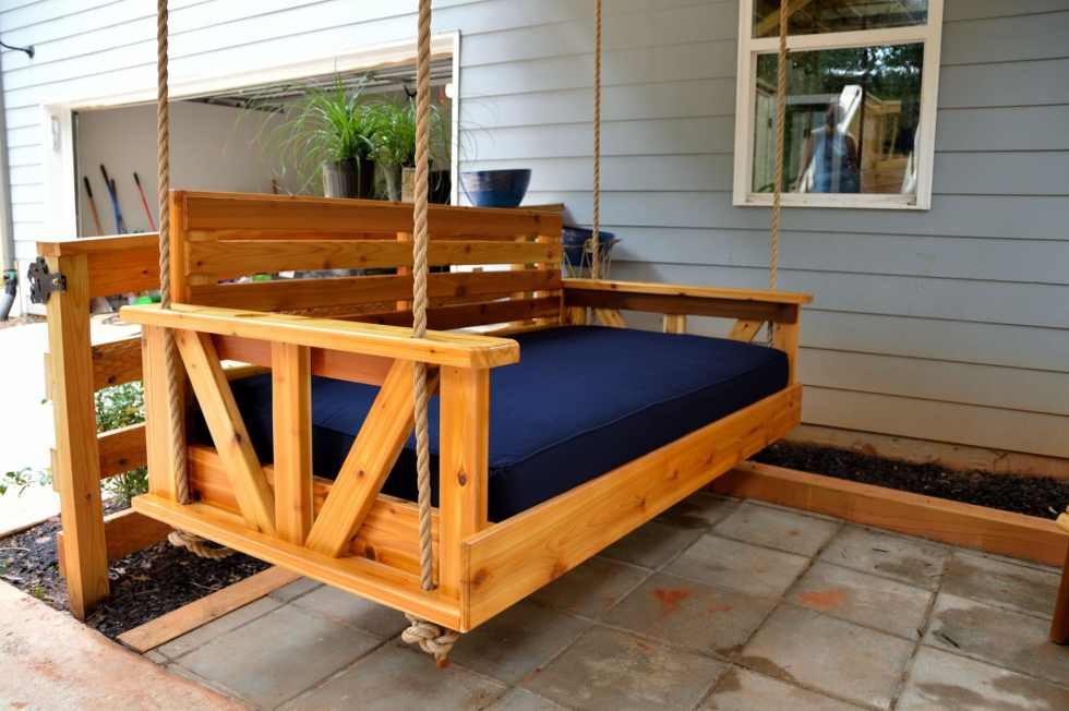 Lanier Bed Swing with Sunbrella Cushion