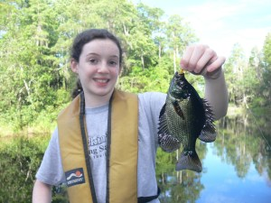 Ellie Deener of Waycross caught this beautiful flier while on Friday morning in the Okefenokee Swamp. Swamp fishing should be great with the high water.