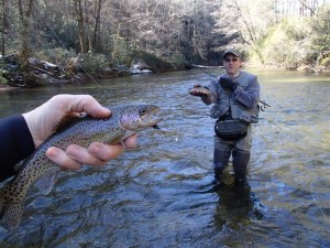 Wildlife Resources assistant director Mark Whitney found some time to go fish the Delayed Harvest section of the Chattooga this past weekend.