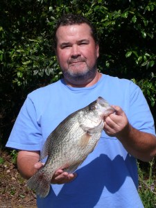 Mike Harrell caught this whopper 17-inch crappie on Lake George (Eufaula) on Sunday.
