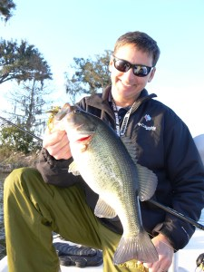 Teddy Elrod caught this chunky bass last month from a Brunswick area pond by pitching a creature bait rigged on a Glider Head.