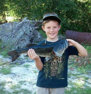Braxton Long caught this nice bass at a local pond!