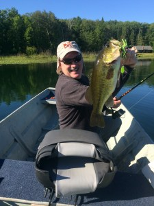 This 5-pound bass ate a Dura-Spin fished around the edge of vegetation.
