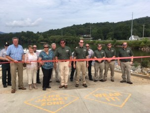 MayorsParkBoatLanding LakeChatuge RibbonCutting