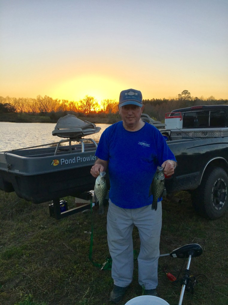 Jerry Long fooled this crappie last winter. It won't be long before the specks start biting!