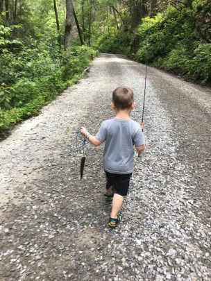 trout fishing Tallulah Aug 2018 Tripps first pic1