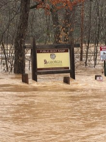 Just a little bit of flooding on some Chattahoochee Ramps!