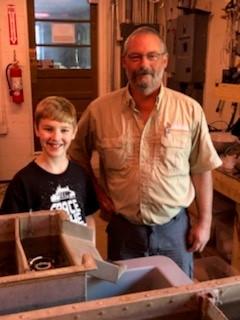 Carsyn enjoyed visiting the Burton Hatchery where he met WRD Fisheries Technician Jeff Stewart
