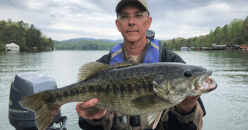 6lb Spotted Bass from Lake Burton