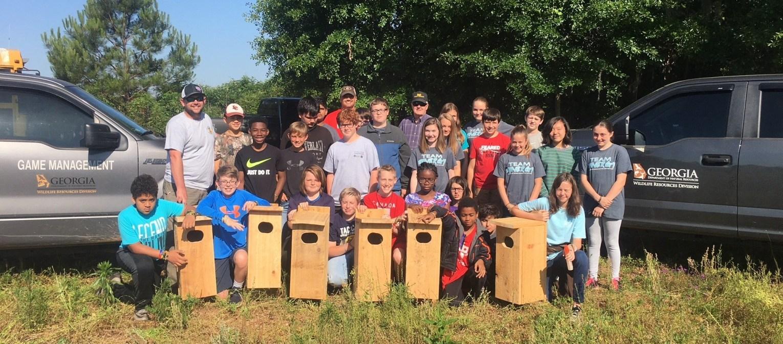 volunteer group wood duck boxes