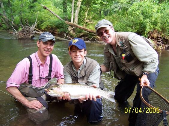 trout rainbow 21 in Pat Jimmie Jeff Noon July 05