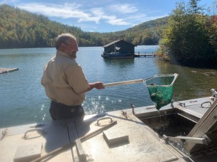 Stocking Lake Burton with Trout