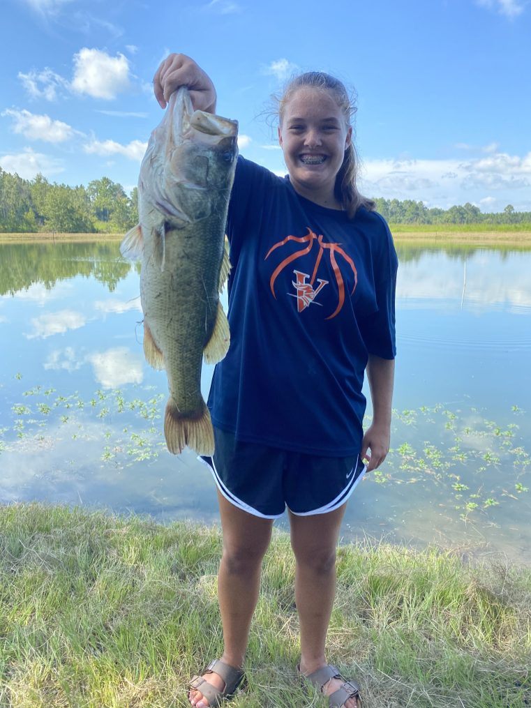 "This 20 1/2"" was Lacy Ann's biggest catch of the day at Paradise PFA."