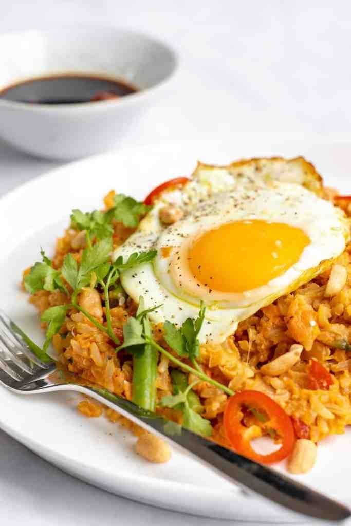 Brown Rice Nasi Goreng Recipe - Healthy & GF! Georgie Eats.