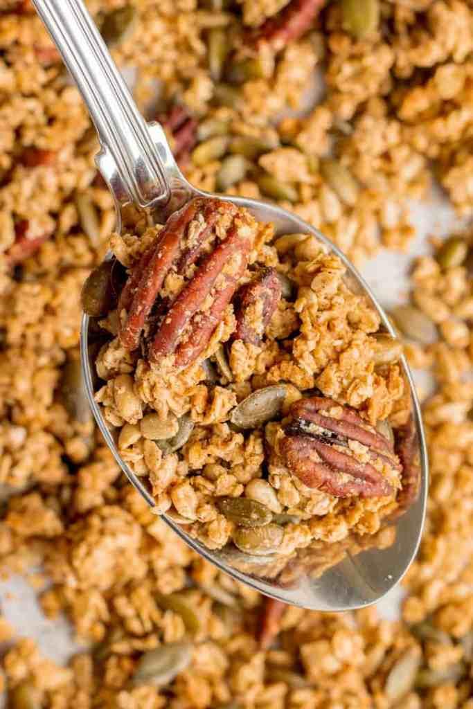 A Spoonful Of Maple Sea Salt Granola - Vegan, GF & Healthy! Georgie Eats.