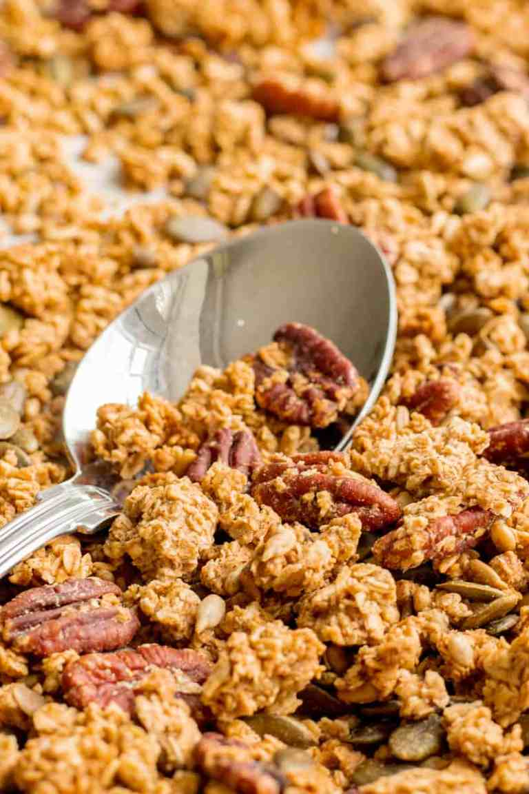 Maple Sea Salt Granola - Vegan, GF & Healthy! Georgie Eats.