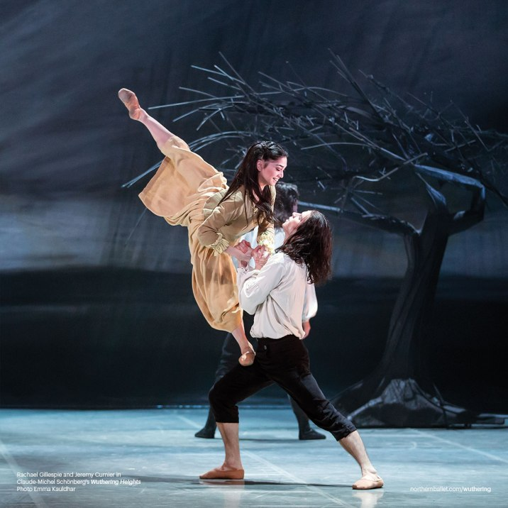 Northern Ballet dancers Rachael Gillespie & Jeremy Curnier as Young Cathy and Young Heathcliff in Claude-Michel Schönberg's 'Wuthering Heights' (Photo by Emma Kauldhar)