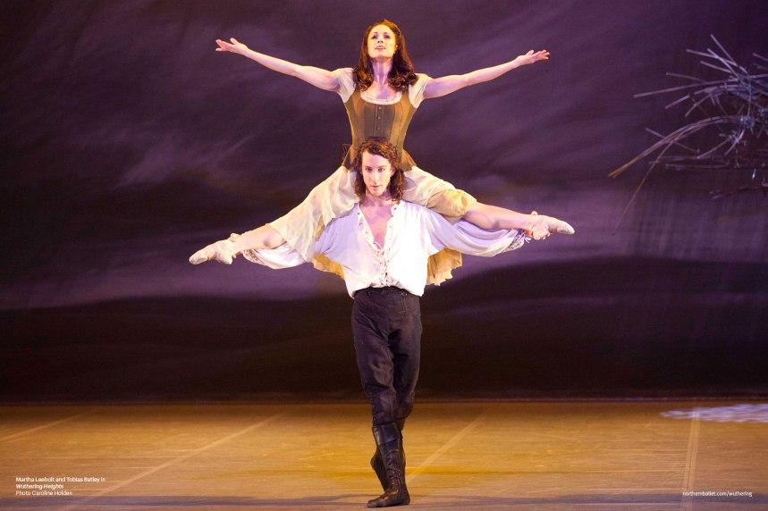 Northern Ballet dancers Tobias Batley & Martha Leebolt as Heathcliff and Cathy in Claude-Michel Schönberg's 'Wuthering Heights' (Photo by Caroline Holden)
