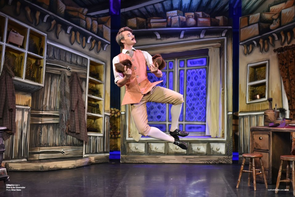 Northern Ballet dancer Sebastian Loe as the Shoemaker in 'Elves & the Shoemaker' (Photo by Brian Slater)